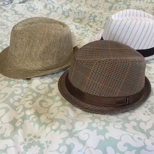 Bundle of 3 fedoras